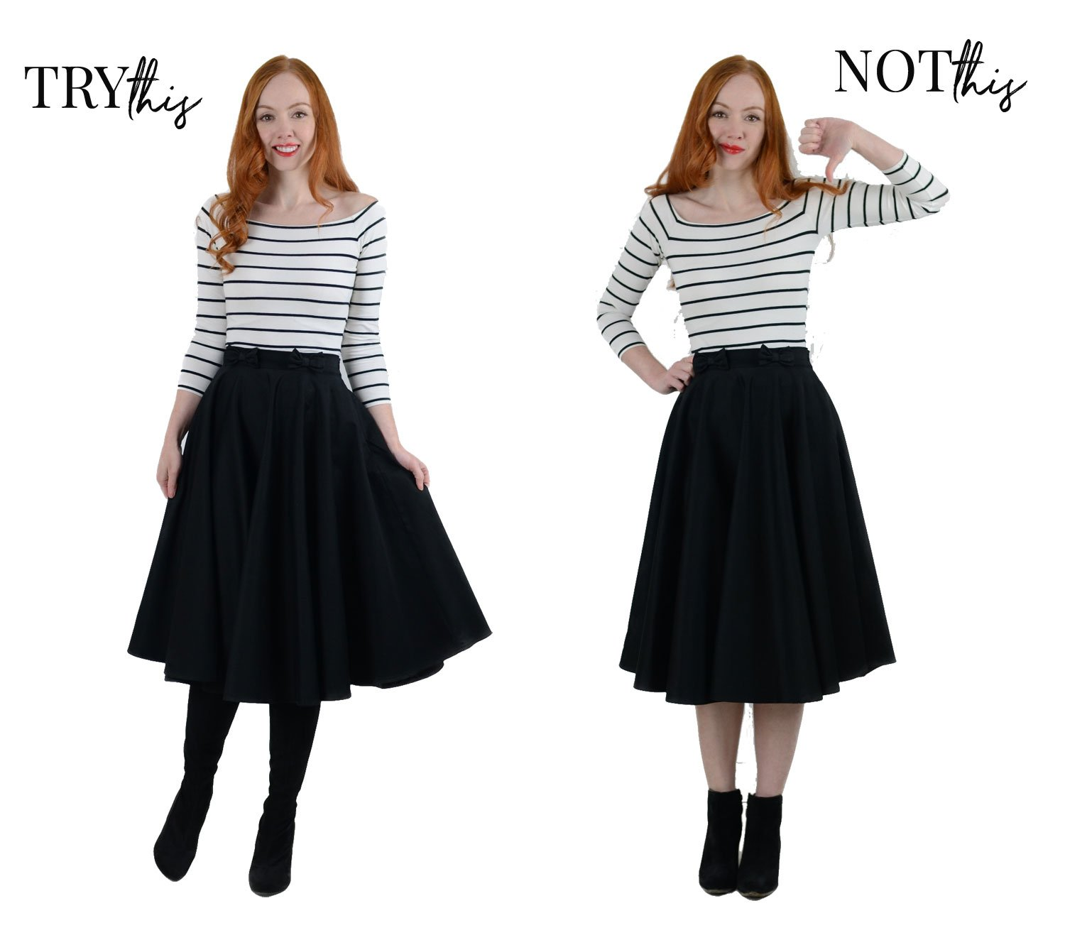 what kind of boots should you wear with a midi skirt