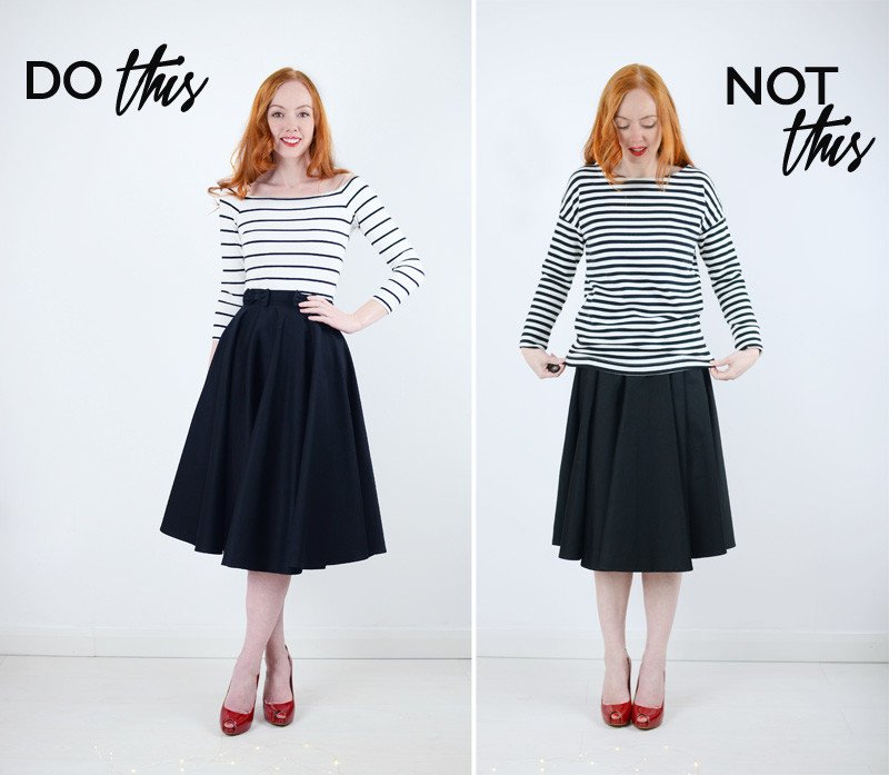 what top to wear with a midi skirt