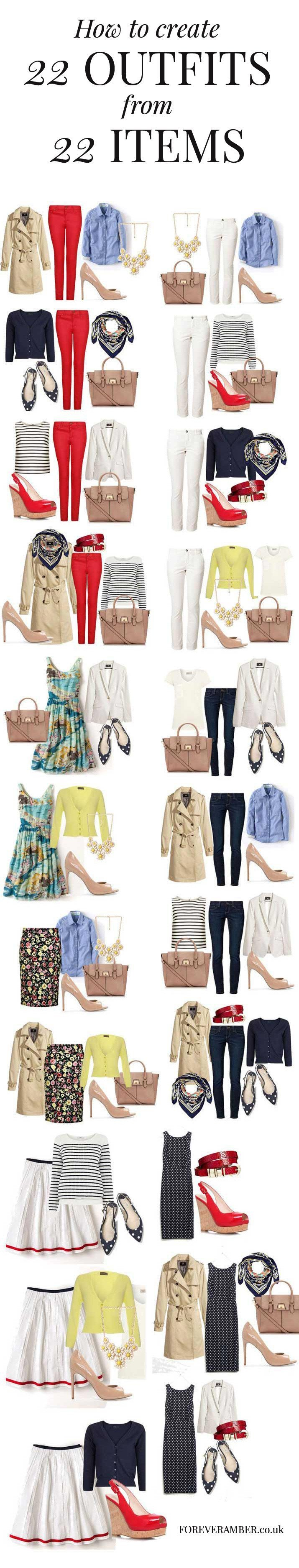 22 outfits from a capsule wardrobe