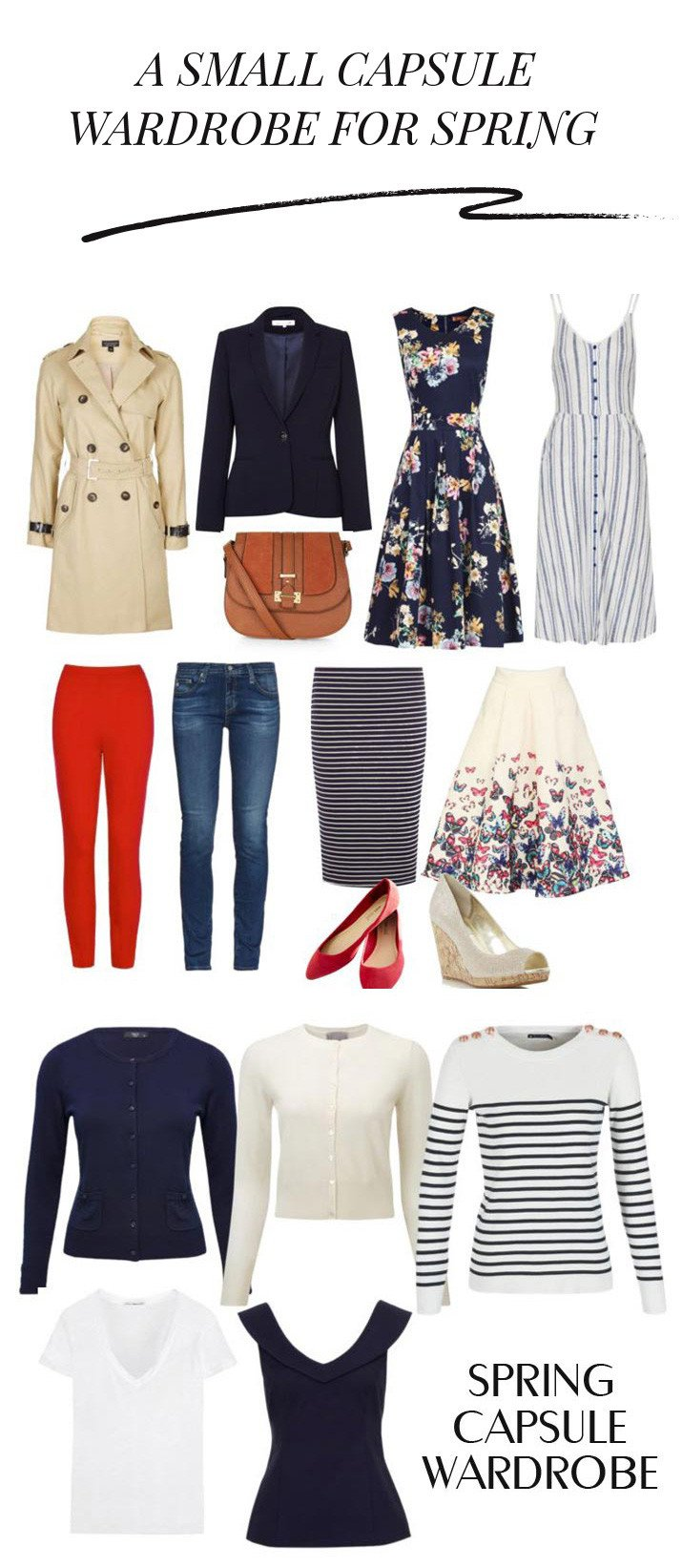 a small capsule wardrobe for spring